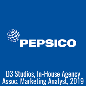 pepsico d3 studios associate marketing analyst